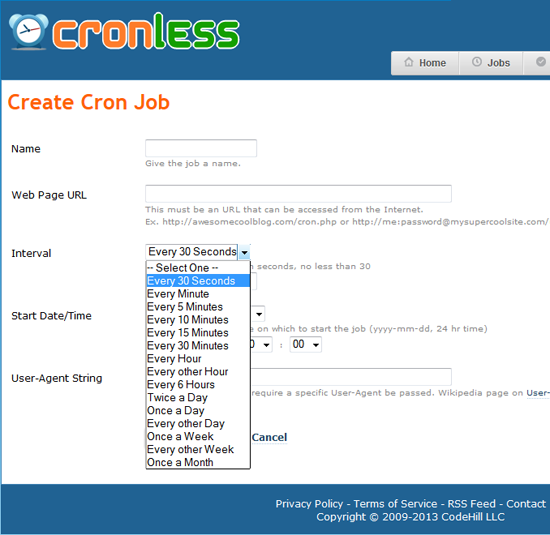30 second cron jobs